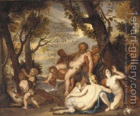 The drunken Silenus by (after) Jacob Jordaens - Reproduction Oil Painting