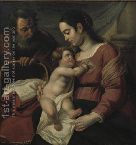 The Holy Family 2 by (after) Jacob Jordaens - Reproduction Oil Painting