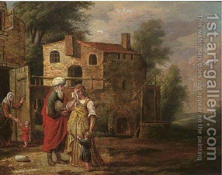 The dismissal of Hagar by (after) Jacob Pynas - Reproduction Oil Painting