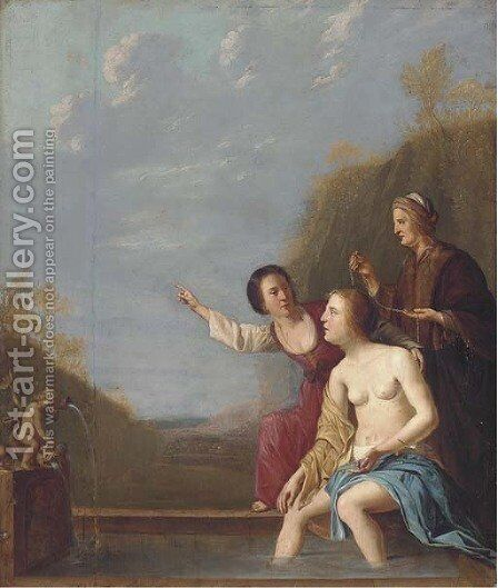 The Bath of Bathsheba by (after) Jacob Van Loo - Reproduction Oil Painting