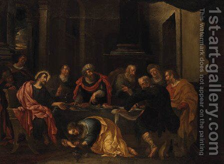 Christ in the House of Simon the Pharisee by (after) Jacopo Tintoretto (Robusti) - Reproduction Oil Painting
