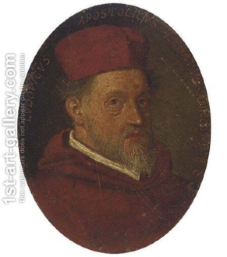 Portrait of a Cardinal by (after) Jacopo Tintoretto (Robusti) - Reproduction Oil Painting