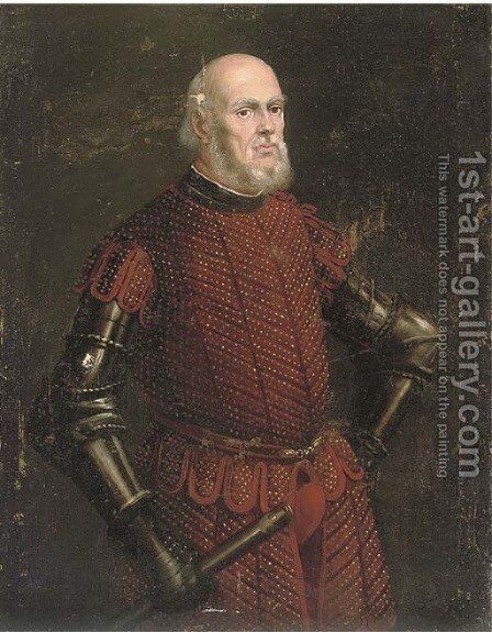 Portrait of a nobleman by (after) Jacopo Tintoretto (Robusti) - Reproduction Oil Painting