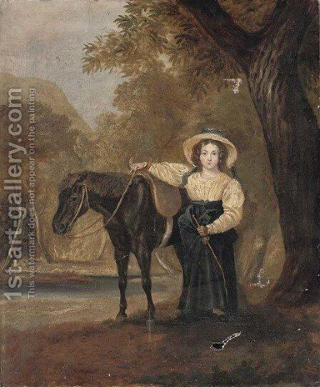 The favourite pony by (after) James Hardy - Reproduction Oil Painting