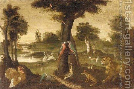 Adam and Eve in the garden of Eden by (after) Jan, The Younger Brueghel - Reproduction Oil Painting