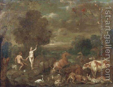 The Garden of Eden by (after) Jan, The Younger Brueghel - Reproduction Oil Painting