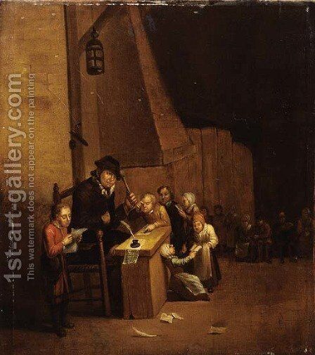 A schoolclass by (after) Jan Steen - Reproduction Oil Painting
