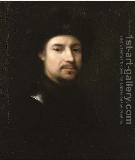 Portrait of a man in a fur lined hat by (after) Jan Kupetski - Reproduction Oil Painting