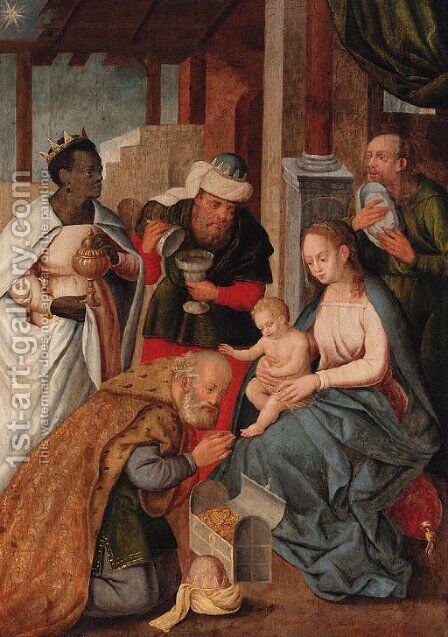 The Adoration of the Magi by (after) Jan Provost - Reproduction Oil Painting