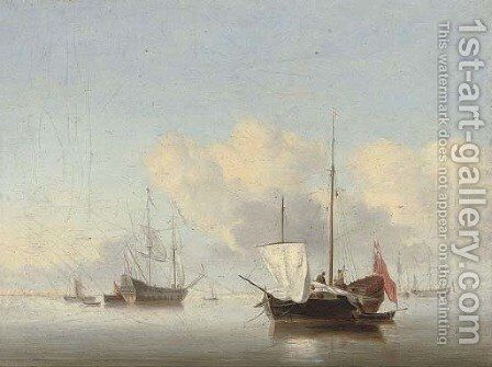 Shipping in a calm by (after) Jan Van Os - Reproduction Oil Painting