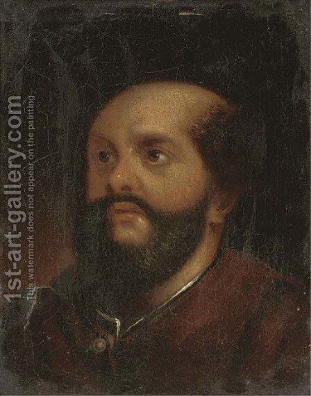 Head of a bearded man by (after) Januarius Zick - Reproduction Oil Painting