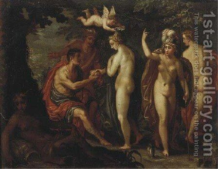 The Judgement of Paris by (after) Joachim Wtewael (Uytewael) - Reproduction Oil Painting