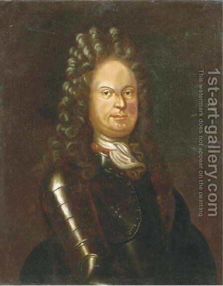 Portrait of Albrecht Anton (1614-1710) by (after) Christian Morgenstern - Reproduction Oil Painting