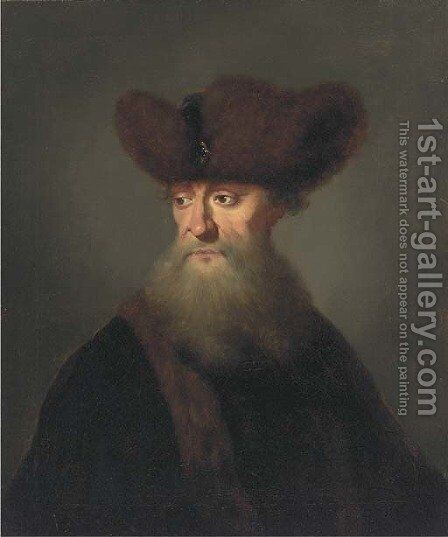Portrait of a bearded gentleman by (after) Johann Kupezky Or Kupetzky - Reproduction Oil Painting