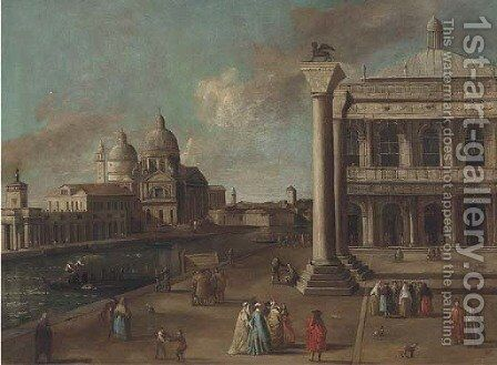 The Piazzetta, Venice by (after) Johann Richter - Reproduction Oil Painting