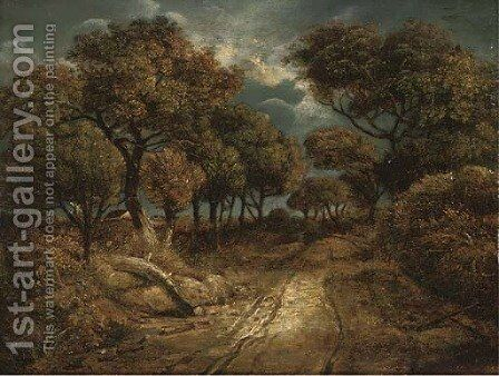 A path on Mouse Hole Heath by (after) John Crome - Reproduction Oil Painting