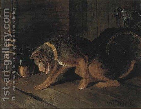 A noise through the floorboards by (after) John Frederick Jnr Herring - Reproduction Oil Painting