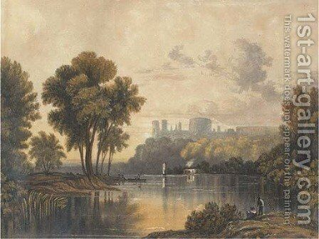 Windsor Castle from the Thames by (after) John Glover - Reproduction Oil Painting