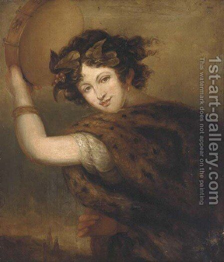 A bacchanalian muse by (after) Hoppner, John - Reproduction Oil Painting