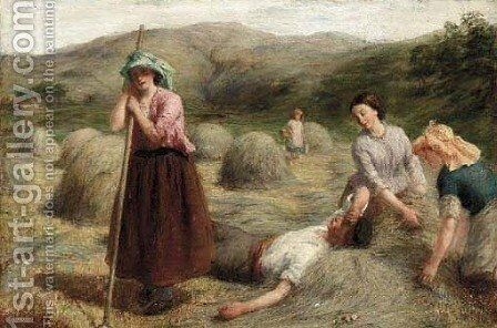 A harvester's rest by (after) John Linnell - Reproduction Oil Painting