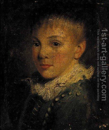 Portrait of a young boy by (after) John Opie - Reproduction Oil Painting