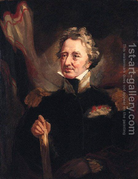 Portrait of Rear Admiral Augustus Russel by (after) John Opie - Reproduction Oil Painting