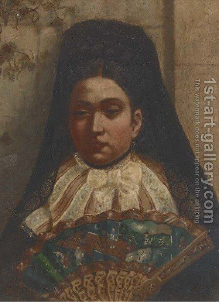 A Spanish maiden by (after) John Phillip - Reproduction Oil Painting