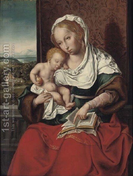 The Virgin and Child 4 by (after) Cleve, Joos van - Reproduction Oil Painting