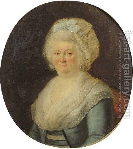 Portrait of a noblewoman by (after) Joseph-Marie Vien - Reproduction Oil Painting