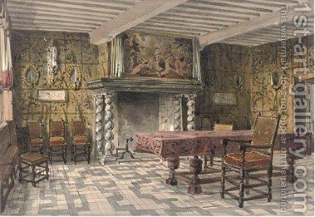Brewers Corporation Room, Antwerp by (after) Joseph Nash - Reproduction Oil Painting