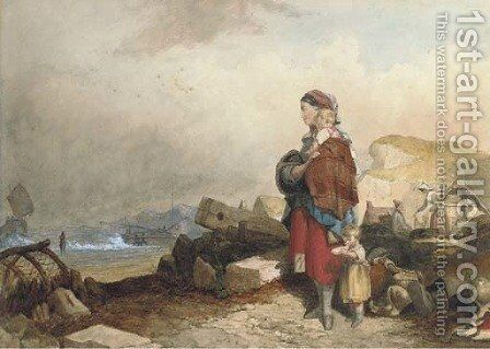 Waiting for the fisherman to return by (after) Cristall, Joshua - Reproduction Oil Painting