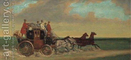 The Salisbury mail coach by (after) Joshua Dalby - Reproduction Oil Painting