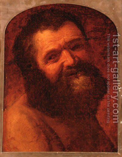 The head of a bearded man by (after) Jusepe De Ribera - Reproduction Oil Painting