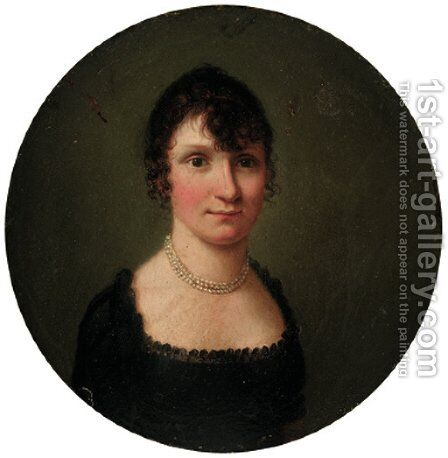 Portrait of a lady 2 by (after) Louis Leopold Boilly - Reproduction Oil Painting