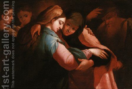 The Visitation by (after) Luca Cambiaso - Reproduction Oil Painting