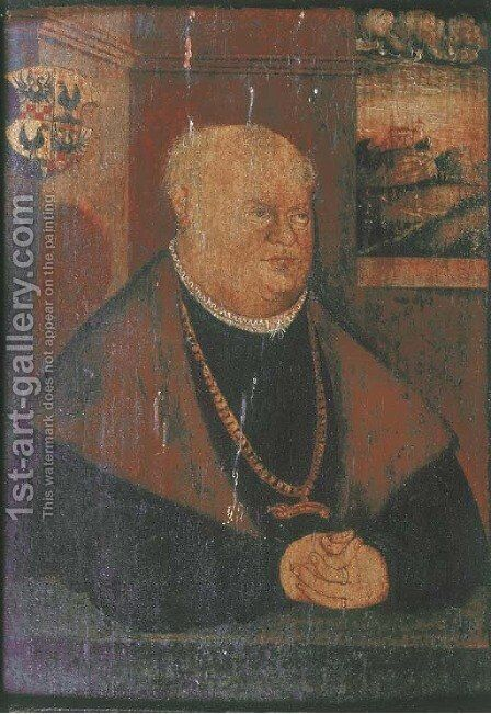 Portrait of Carl Henneberg by (after) Lucas The Younger Cranach - Reproduction Oil Painting