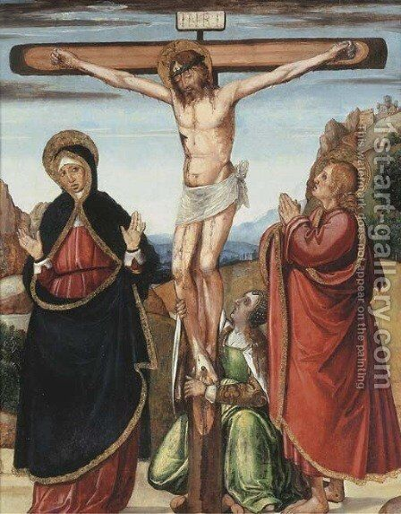 The Crucifixion by (after) Ludovico Brea - Reproduction Oil Painting