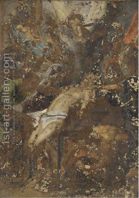The Martyrdom of Saint Laurence by (after) Ludovico Carracci - Reproduction Oil Painting