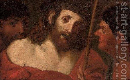 The Mocking of Christ by (after) Ludovico Carracci - Reproduction Oil Painting