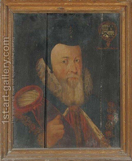 Portrait of William Cecil (1520-1598), 1st Baron Burghley by (after) Marcus The Younger Gheeraerts - Reproduction Oil Painting
