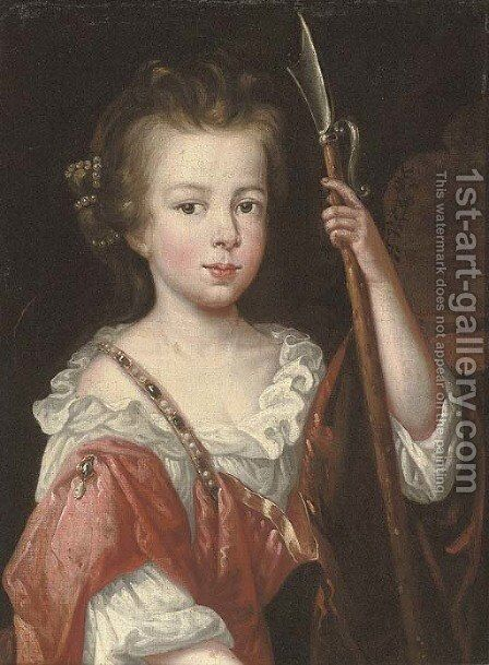 Portrait of a young girl by (after) Mary Beale - Reproduction Oil Painting