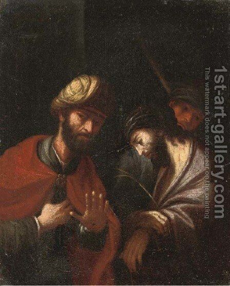 Christ before Pilate by (after) Mattia Pretti - Reproduction Oil Painting
