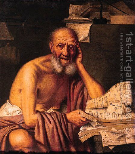 Socrates by (after) Michelangelo Merisi Da Caravaggio - Reproduction Oil Painting