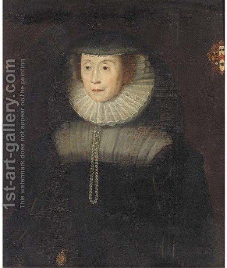 Portrait of a lady by (after) Nicholas Maes - Reproduction Oil Painting
