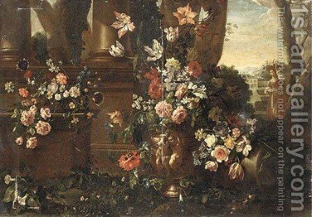 Flowers by (after) Nicola Casissa - Reproduction Oil Painting
