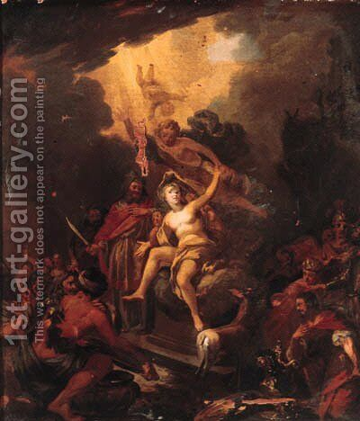 The Sacrifice of Iphigenia by (after) Nicolaes Berchem - Reproduction Oil Painting