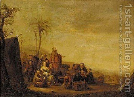 Jacob's Journey into Egypt by (after) Claes Cornelisz Moeyaert - Reproduction Oil Painting