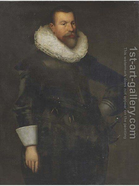 Portrait of a gentleman by (after) Nicolaes (Pickenoy) Eliasz - Reproduction Oil Painting