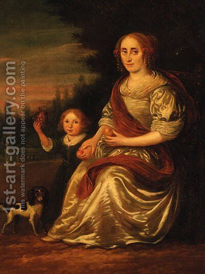 Portrait of a lady by (after) Nicolaes Maes - Reproduction Oil Painting