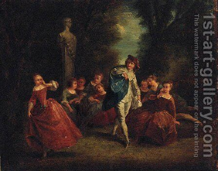 A Fete Champetre 2 by (after) Lancret, Nicolas - Reproduction Oil Painting